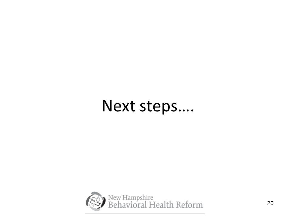 20 Next steps….