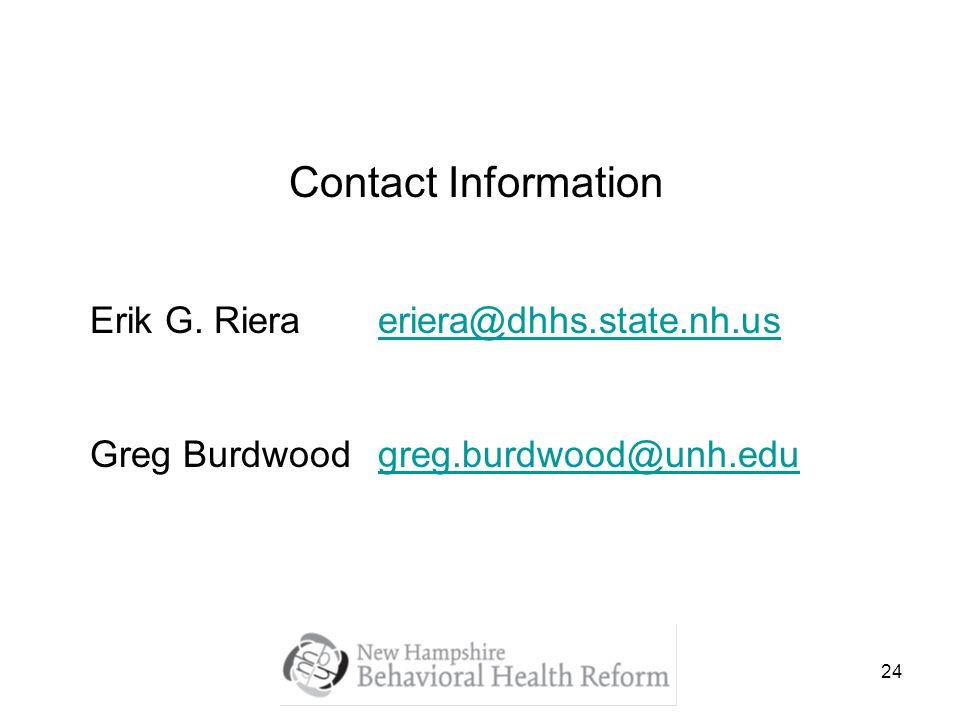 24 Contact Information Erik G.