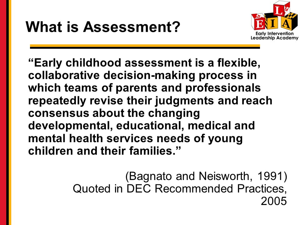 What is Assessment.