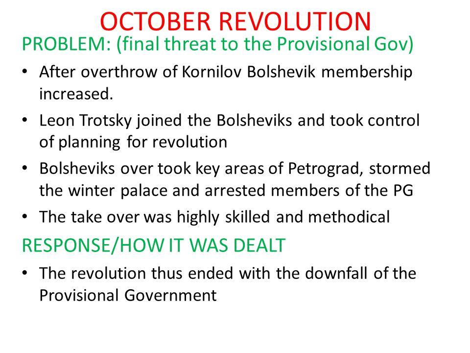 POLITICAL PROBLEMS PROBLEM: (AFTERMATH OF CIVIL WAR) Kronstadt Revolt – sailors protested war communism, lack of freedom, called for new elections.