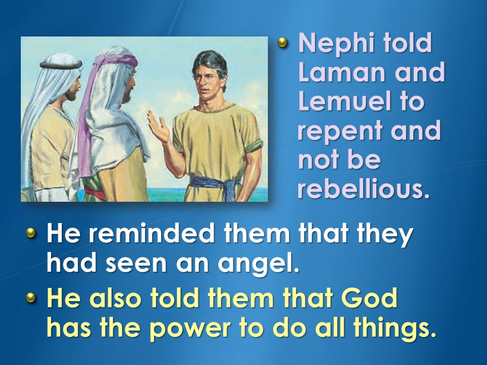 Why did Laman and Lemuel not want to help Nephi build a ship.