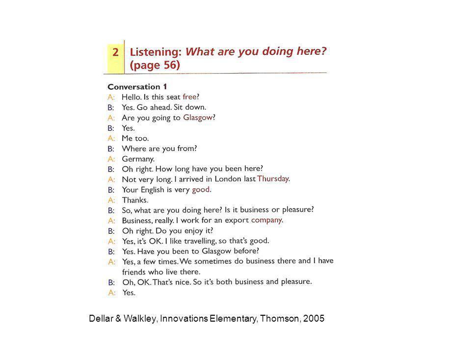 Dellar & Walkley, Innovations Elementary, Thomson, 2005