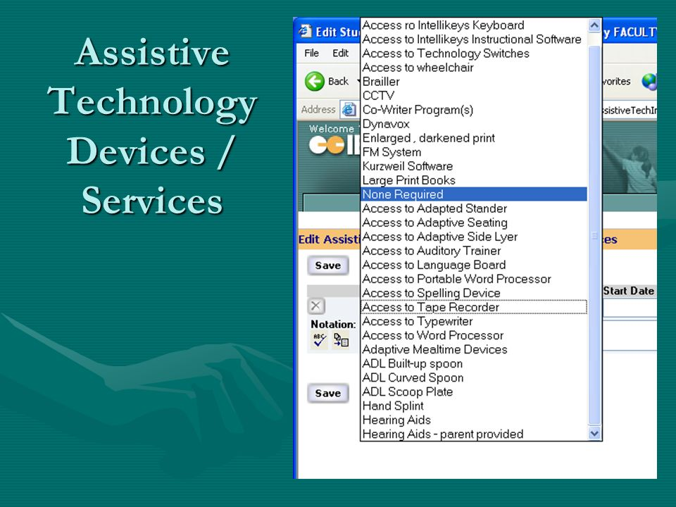 Assistive Technology Devices / Services