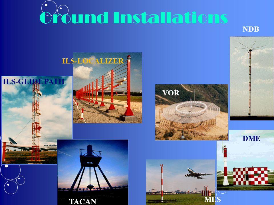 ILS-GLIDE PATH TACAN NDB VOR DME ILS-LOCALIZER MLS Ground Installations