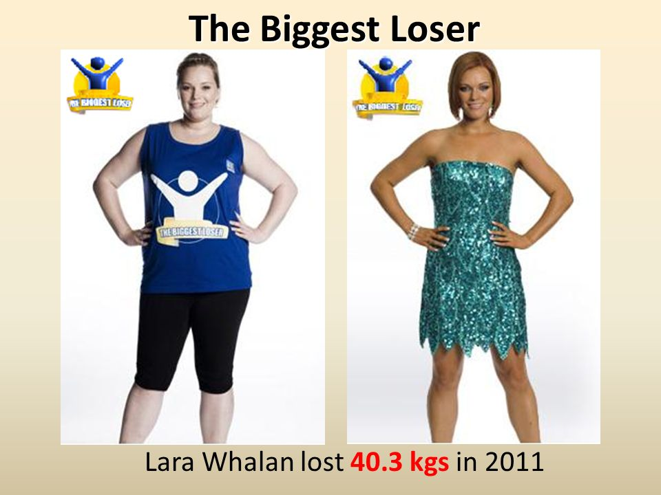 The Biggest Loser Lara Whalan lost 40.3 kgs in 2011