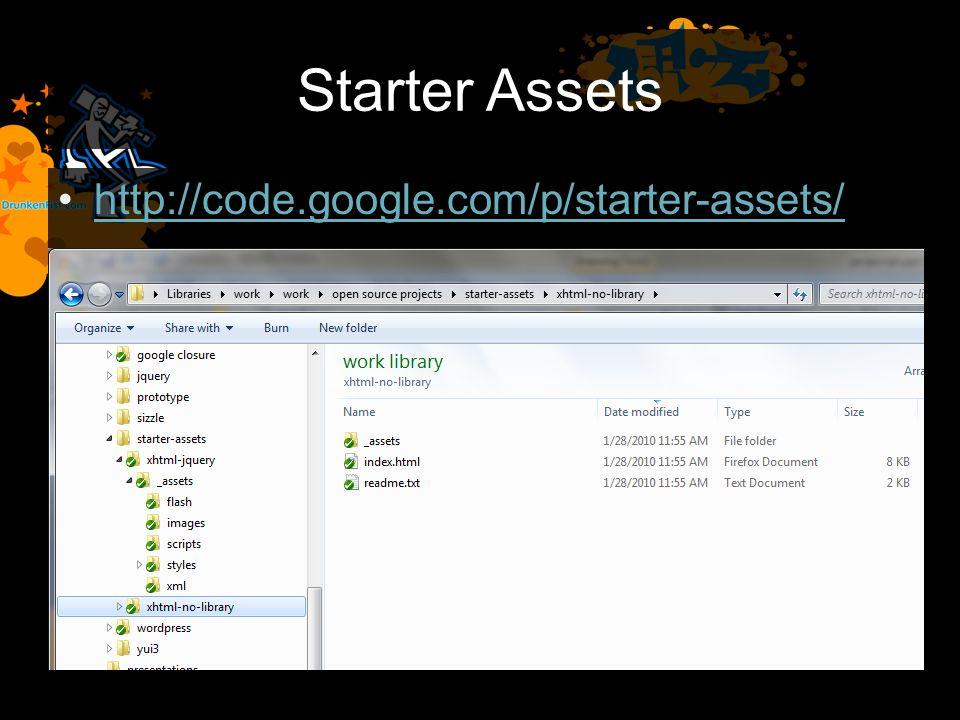 Starter Assets http://code.google.com/p/starter-assets/
