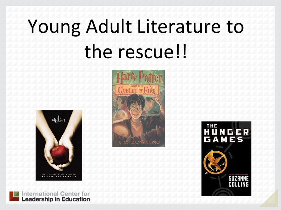 Young Adult Literature to the rescue!!