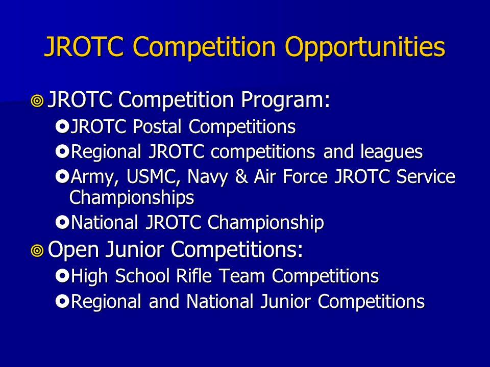 JROTC Competition Opportunities JROTC Competition Program: JROTC Competition Program: JROTC Postal Competitions JROTC Postal Competitions Regional JRO