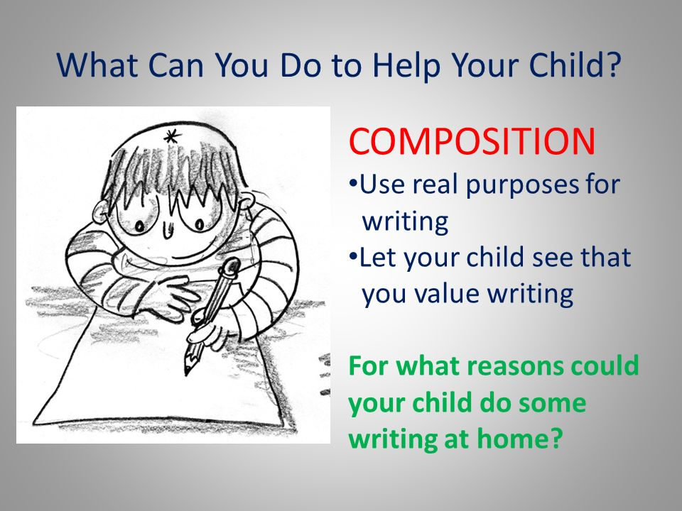 What Can You Do to Help Your Child.
