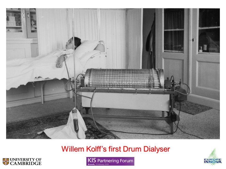 Willem Kolffs first Drum Dialyser