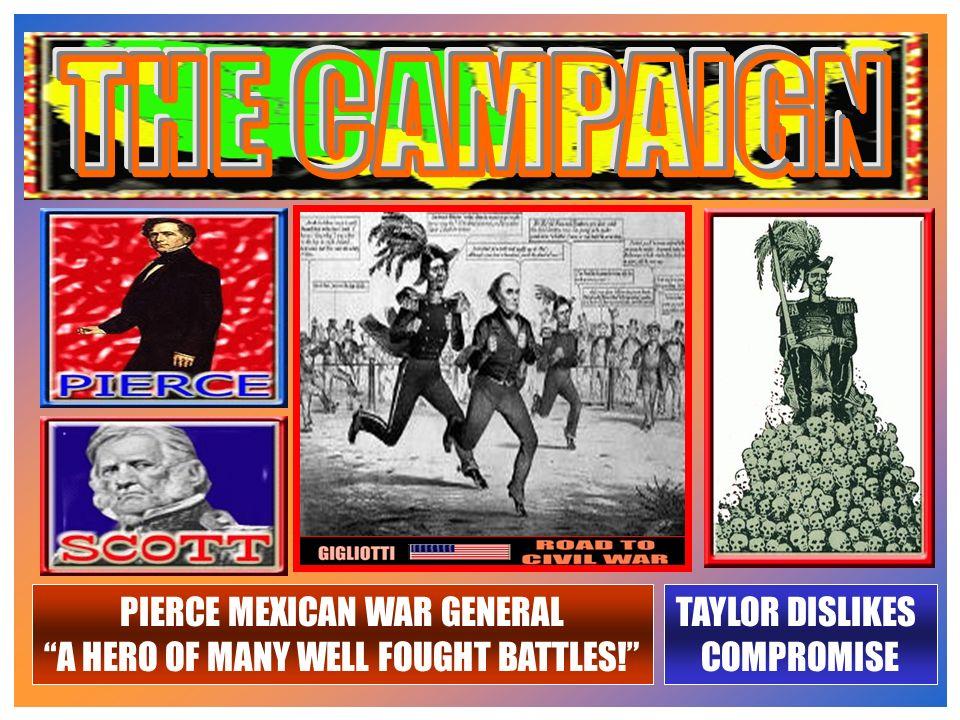 PIERCESCOTTDEMOCRAT PLATFORM: COMPROMISE OF 1850 WHIG PLATFORM: COMPROMISE OF 1850 & FUGITIVE SLAVE LAW