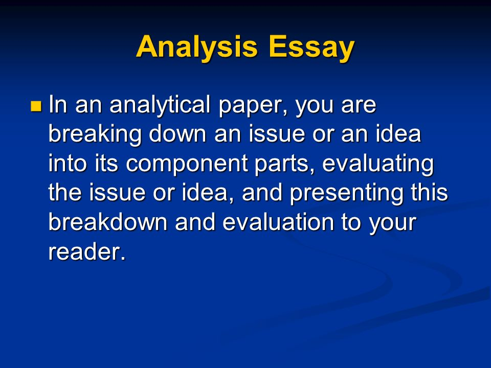 parts of an evaluation essay Parts of an evaluation essay click to continue emphasis on grammatical and well-reasoned expository writing, essay works by english-language prose authors provide matter for frequent written exercises the late 19th century to the present, with some attention to important co.