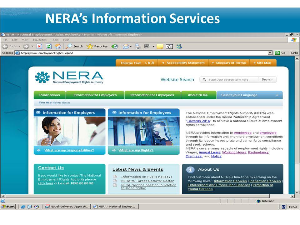 NERAs Information Services