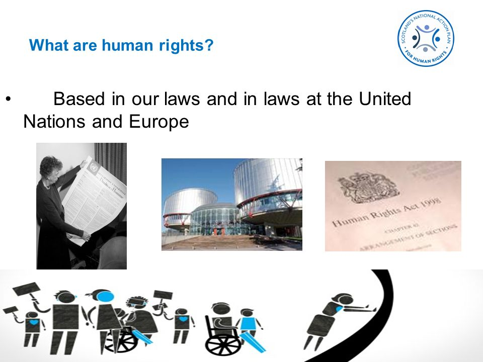 Based in our laws and in laws at the United Nations and Europe What are human rights?