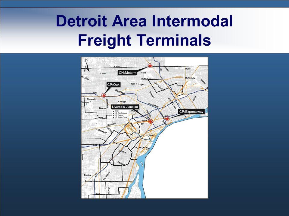 Detroit Area Intermodal Freight Terminals