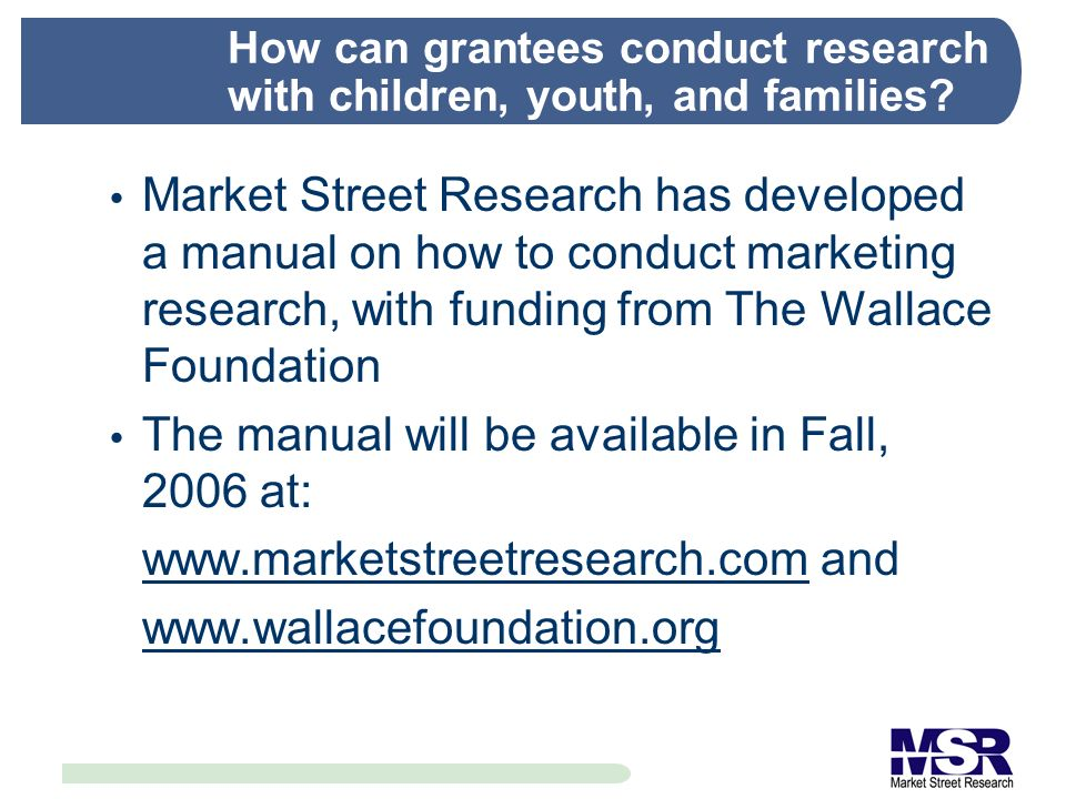 How can grantees conduct research with children, youth, and families.