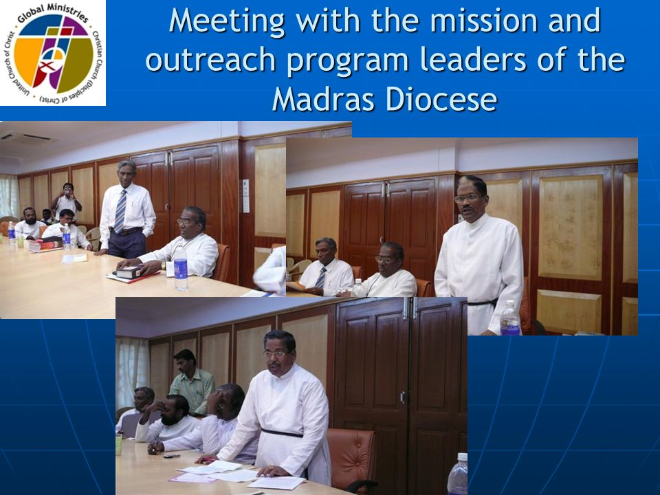 Meeting with the mission and outreach program leaders of the Madras Diocese