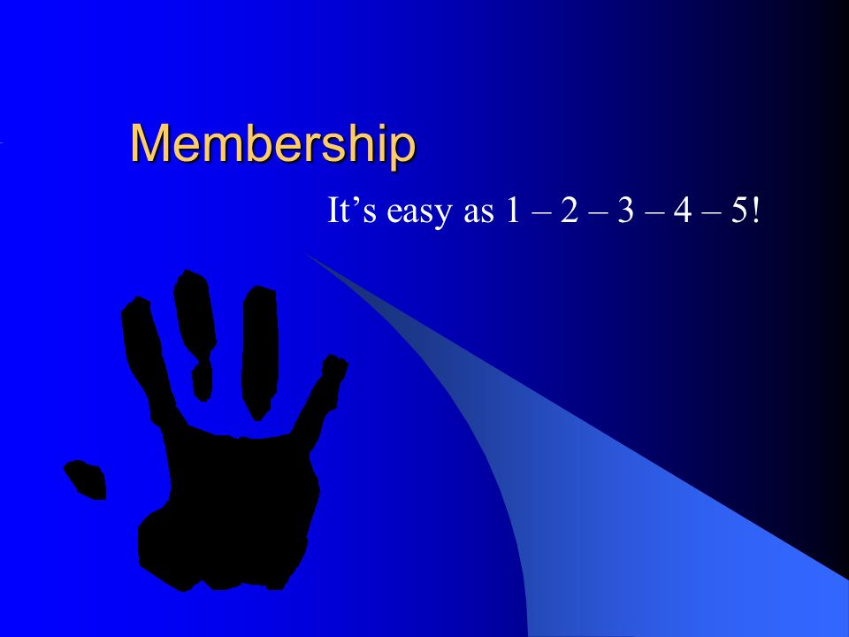 Membership Its easy as 1 – 2 – 3 – 4 – 5!