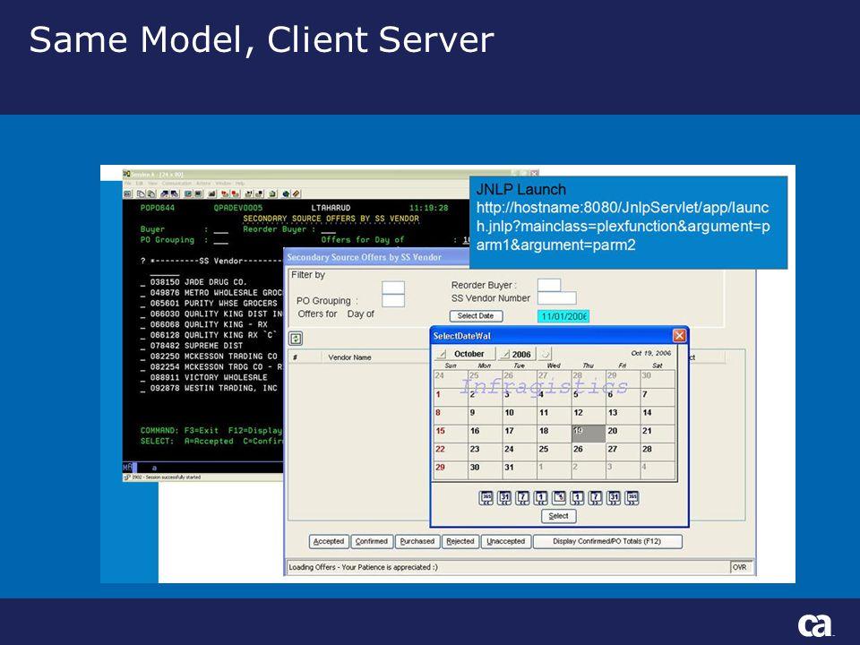 Same Model, Client Server