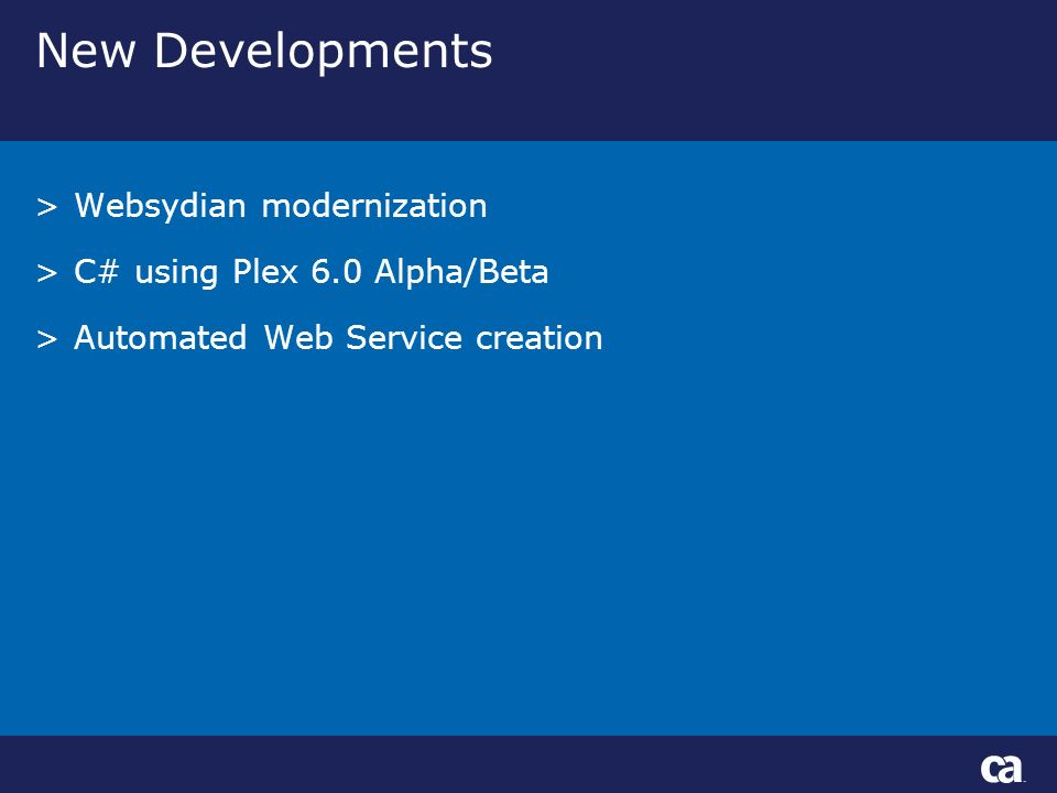 New Developments >Websydian modernization >C# using Plex 6.0 Alpha/Beta >Automated Web Service creation