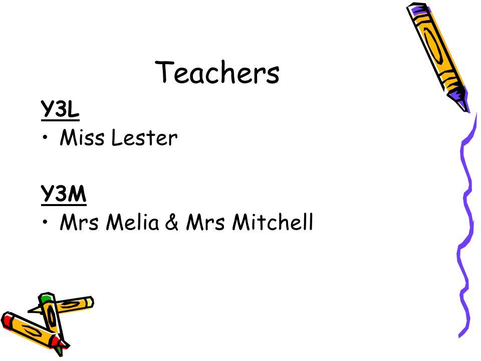 Teachers Y3L Miss Lester Y3M Mrs Melia & Mrs Mitchell