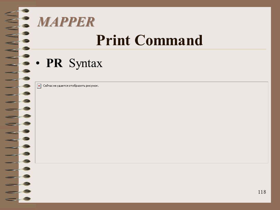 118 PR Syntax