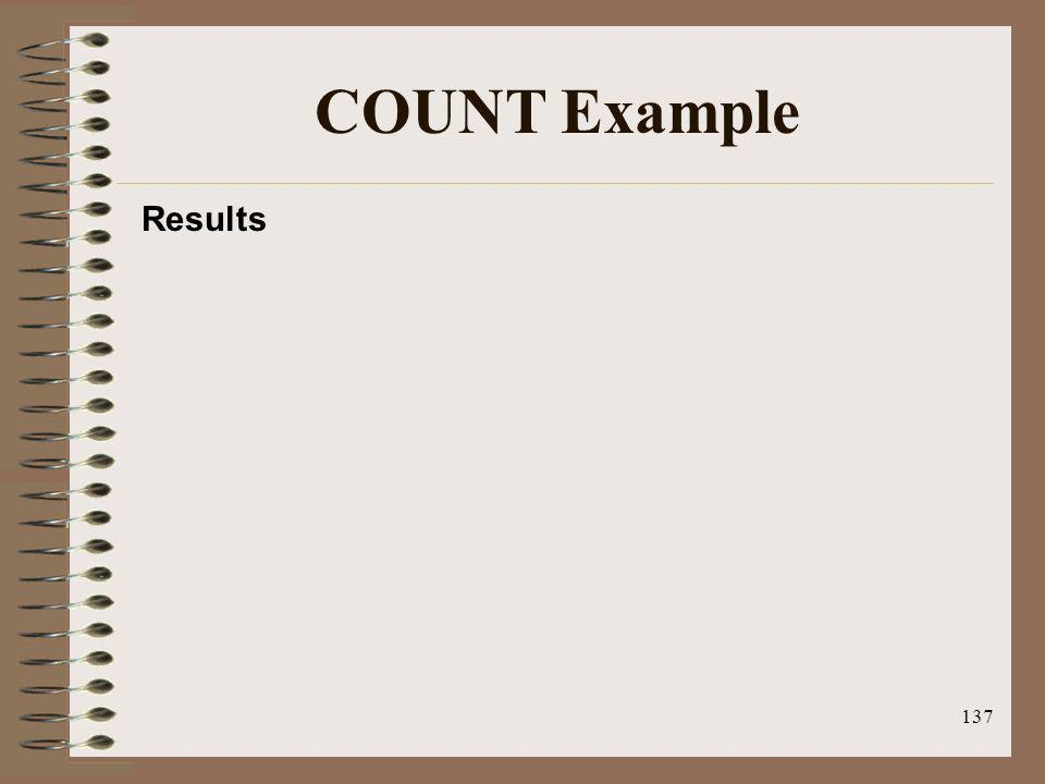 137 COUNT Example Results