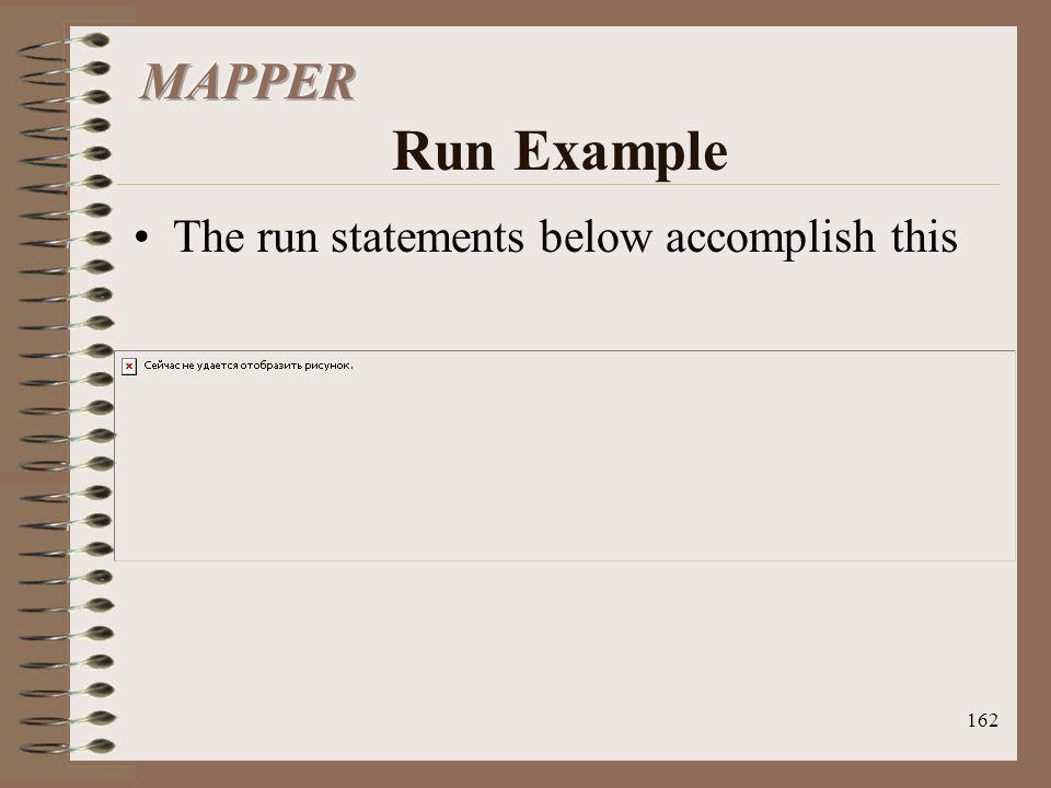 162 The run statements below accomplish this