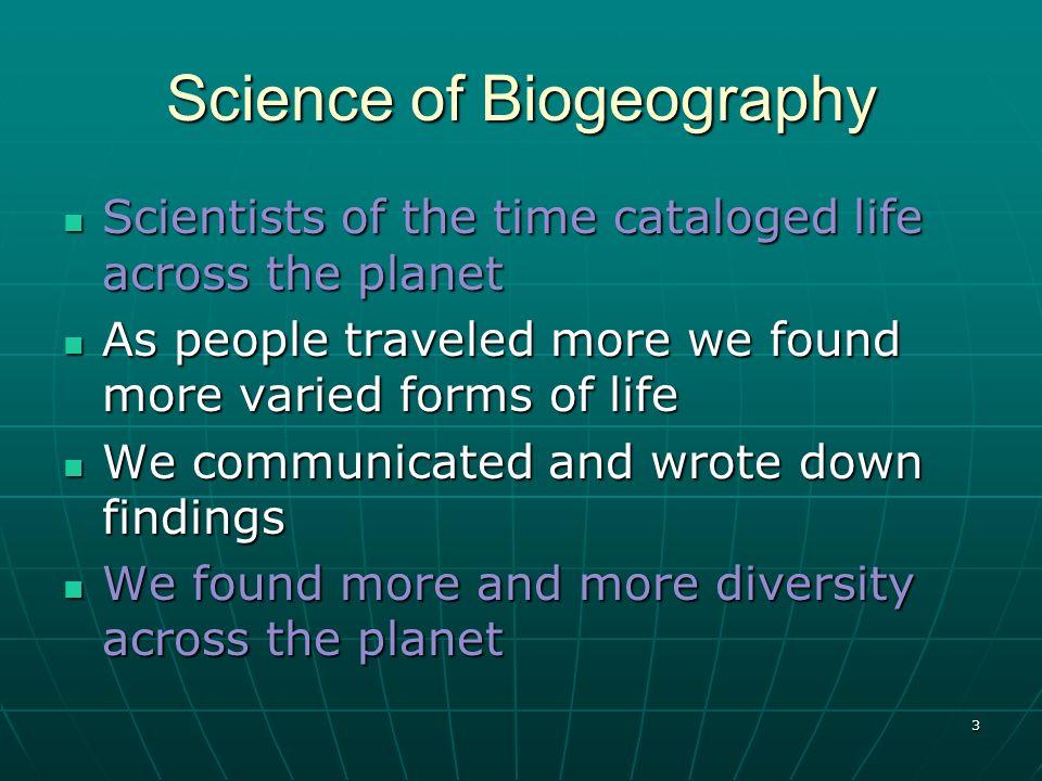 4 Science of Biogeography