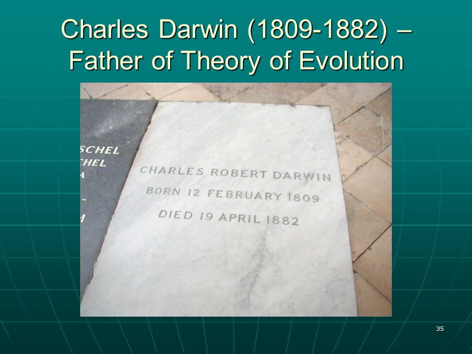 35 Charles Darwin (1809-1882) – Father of Theory of Evolution