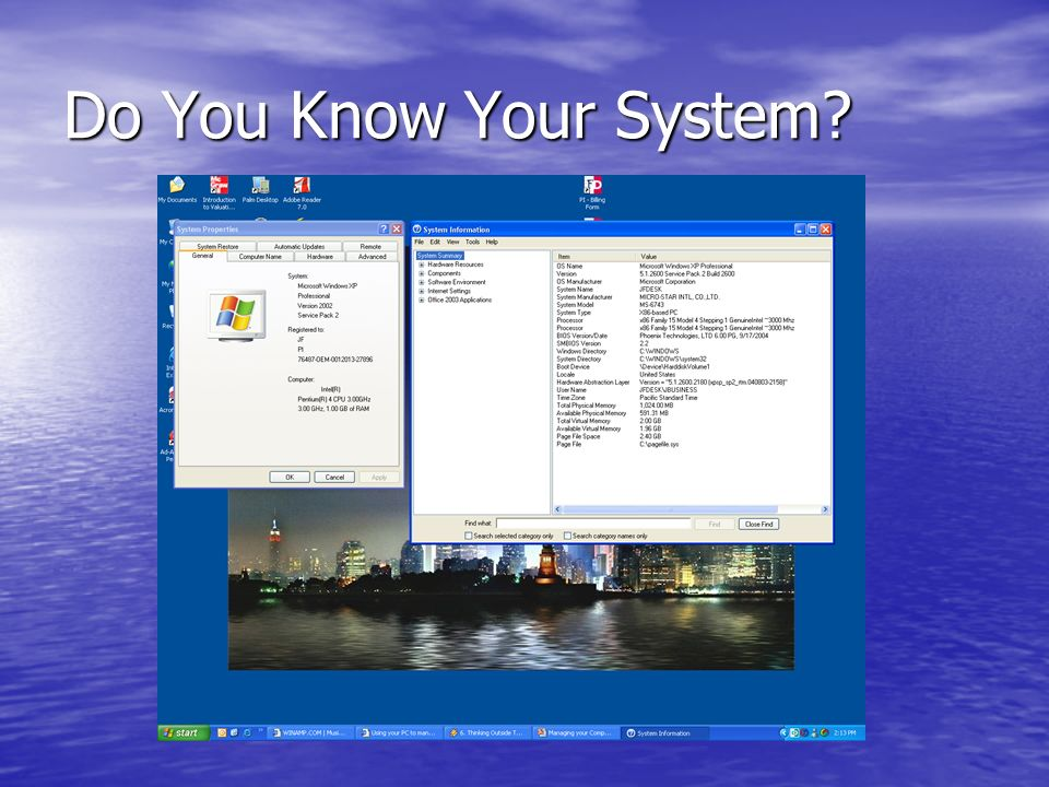 Do You Know Your System