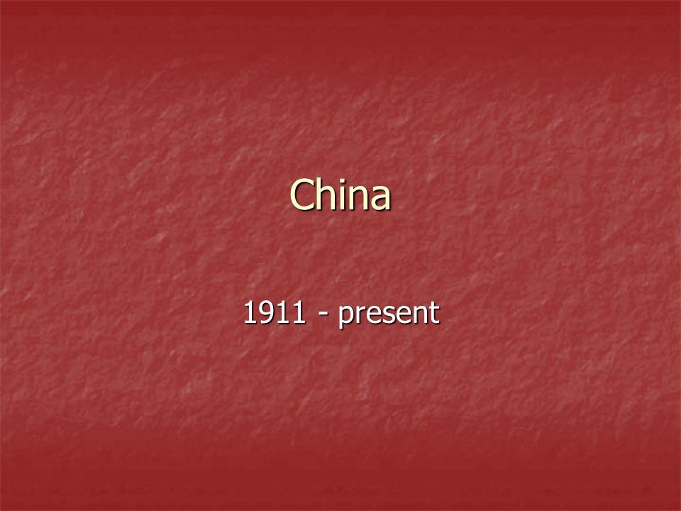 China 1911 - present