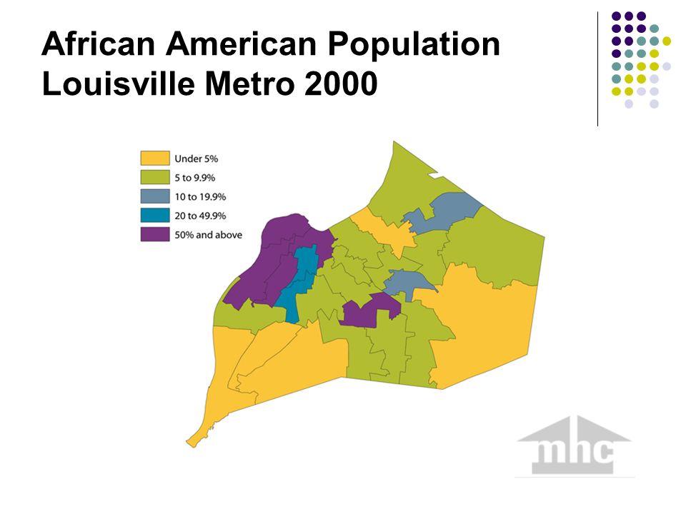 African American Population Louisville Metro 2000