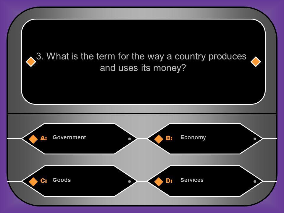 Answer: B) Economy