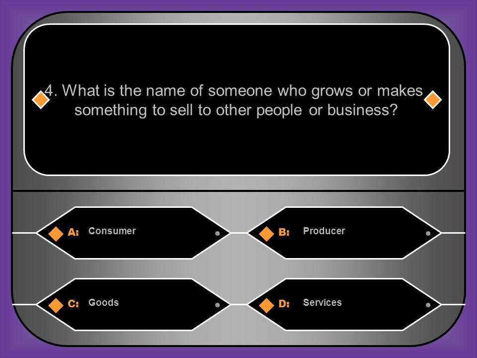 Answer: B) Producer