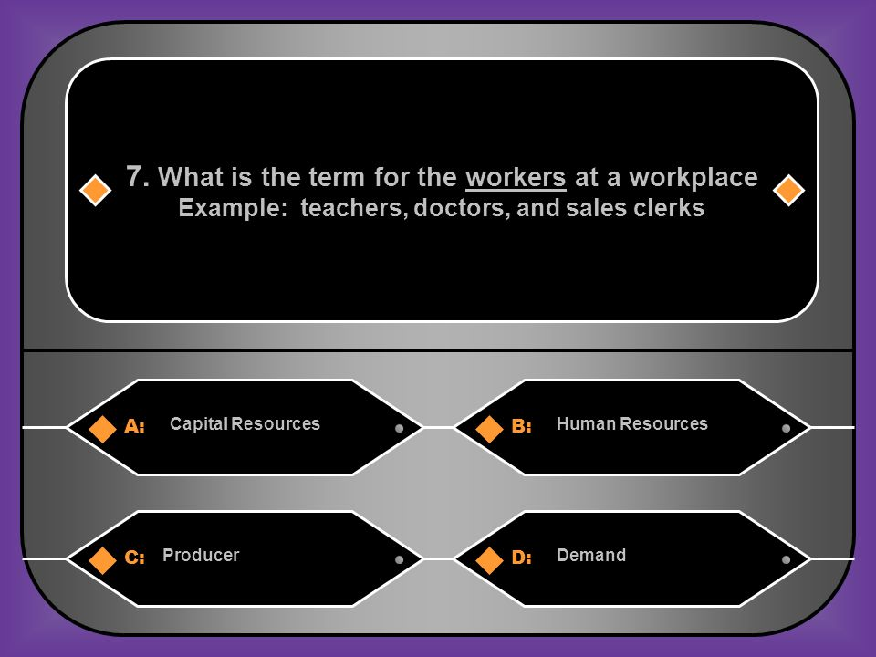 A:B: Human Resources 7.
