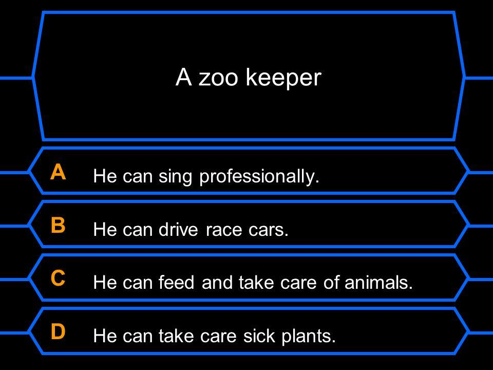 A zoo keeper