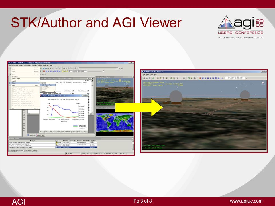 AGI www.agiuc.comPg 3 of 8 STK/Author and AGI Viewer