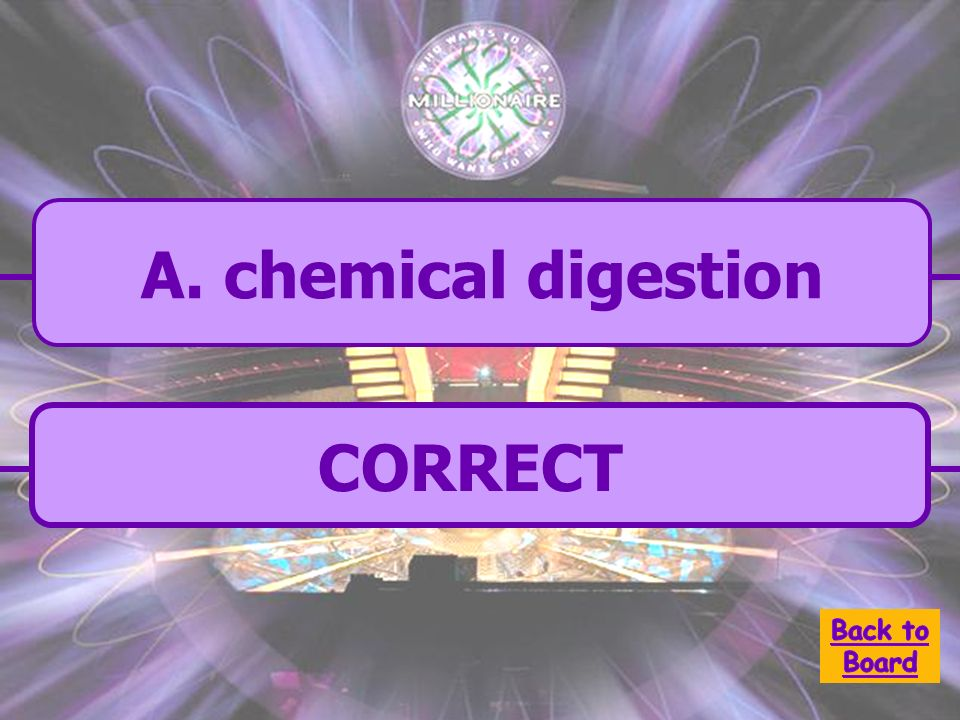 A. chemical digestion The sequence of steps by which large food molecules are broken down into their respective building blocks by catalytic enzymes w
