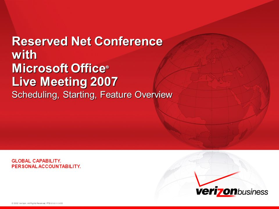 22 Thank You For more information, contact your Conferencing Representative or call Reservations: 1-800-475-5000