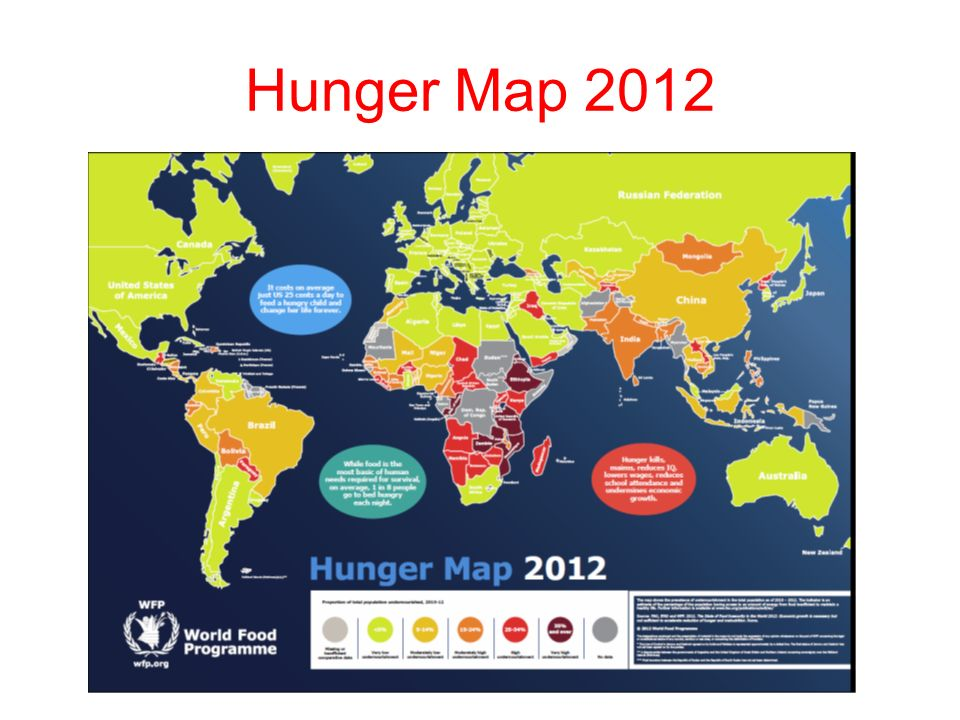 Find out where and explain why hunger exists in the world.