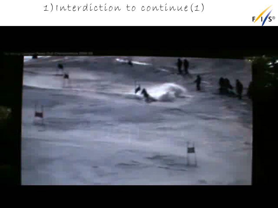 1)Interdiction to continue(1) Alpine Technical Delegates Update 2012