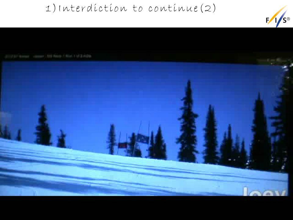 1)Interdiction to continue(2) Alpine Technical Delegates Update 2012