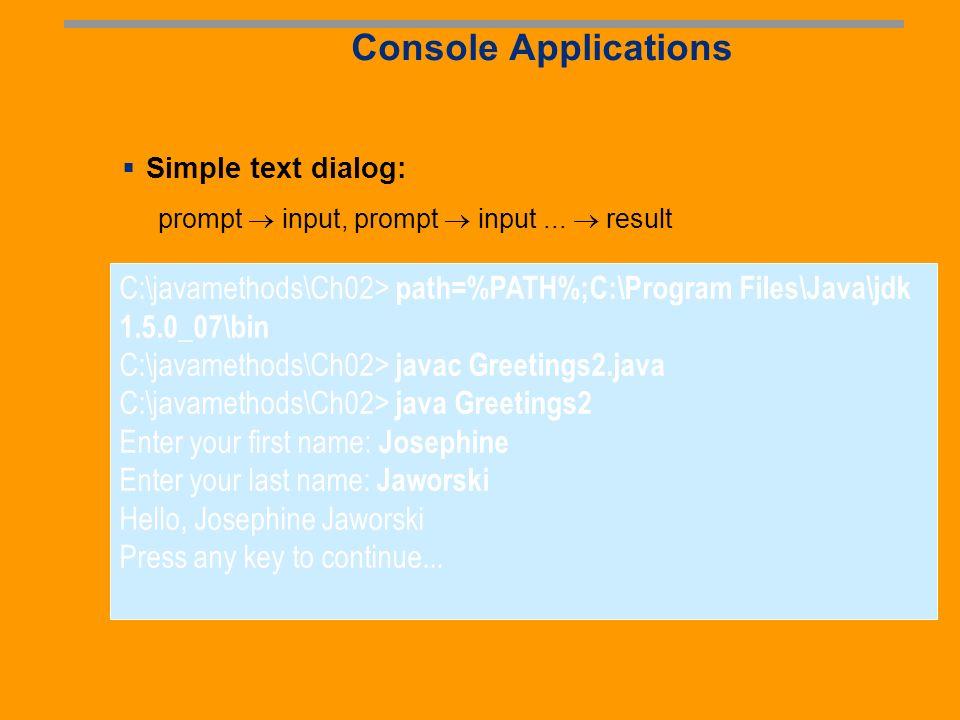 Java on the Web: J2EE Thin clients (minimize download) Java all server side Client Server JSPsServletsEJBJDBC