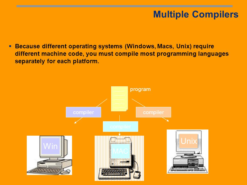 Running Programs All programs follow a simple format: Input Execution Output Inputs can be from users, files, or other computer programs Outputs can take on many forms: numbers, text, graphics, sound, or commands to other programs