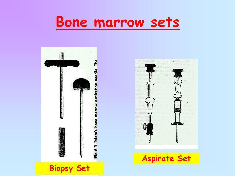Bone marrow sets Biopsy Set Aspirate Set