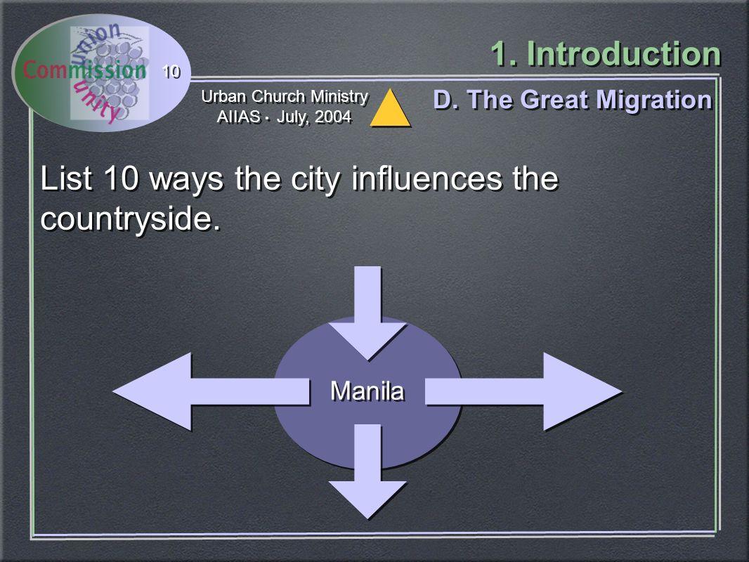 Urban Church Ministry AIIAS July, 2004 Urban Church Ministry AIIAS July, 2004 1.