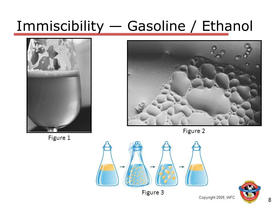 Immiscibility Gasoline / Ethanol 8 Figure 1 Figure 2 Figure 3 Copyright 2009, IAFC