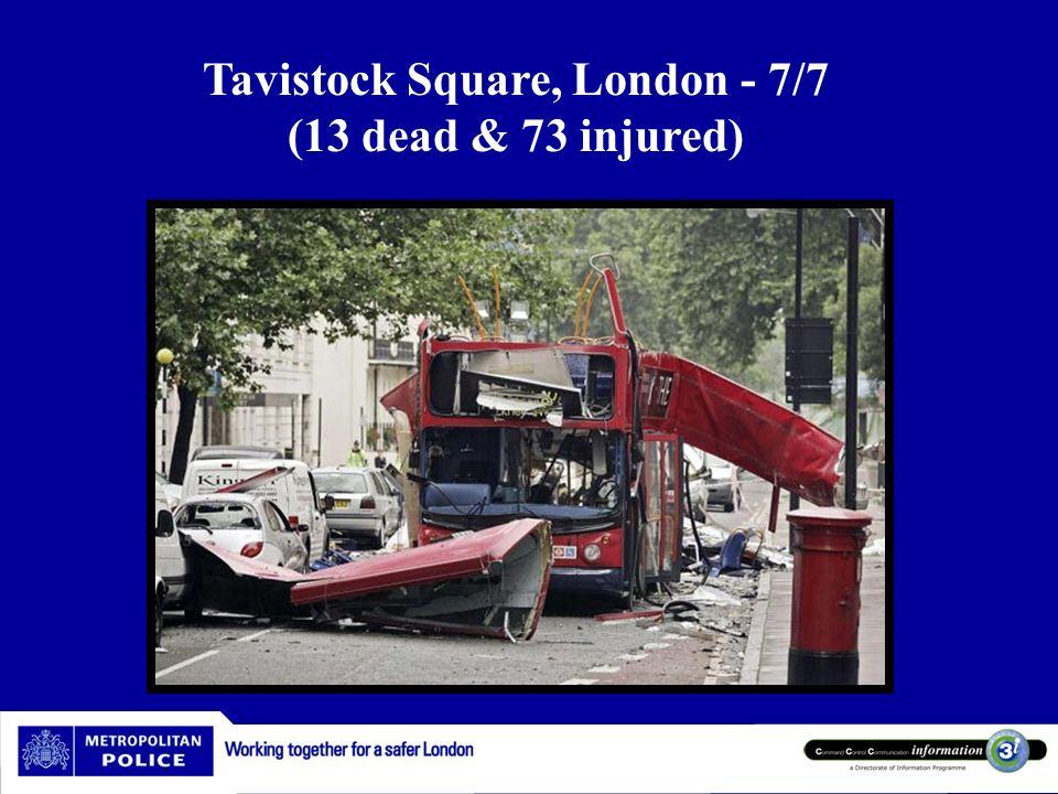 7/77/k77/7 Tavistock Square, London - 7/7 (13 dead & 73 injured)
