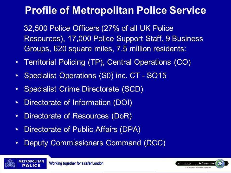Governance Civil Contingencies Act 2004 London Resilience Metropolitan Police Authority (MPA) Corporate Governance British Standard - BS25999 HMIC (Baseline assessments in 2008 and 2010)